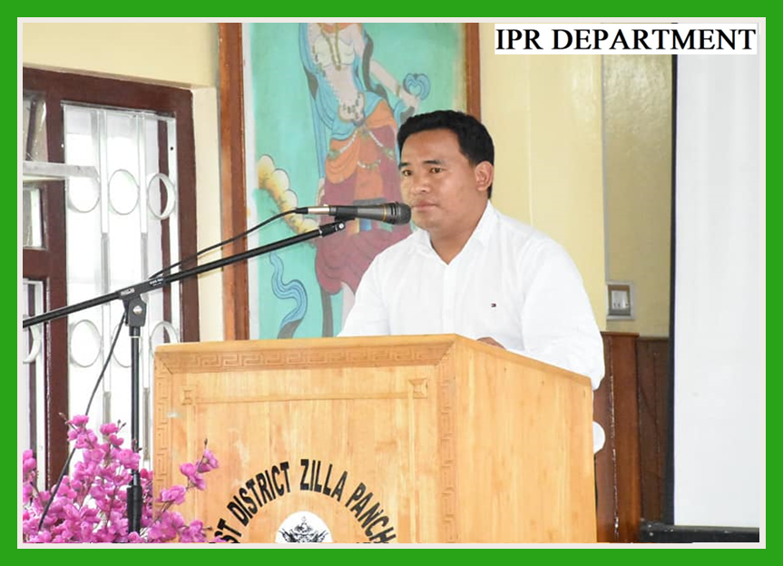 HON'BLE MINISTER SHRI. BHIM HANG SUBBA ATTENDS COORDINATION MEETING AT GYALSHING ON 10.07.2019