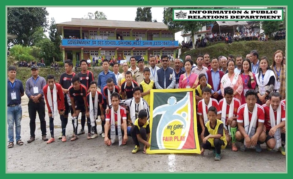 HON'BLE MINISTER SHRI L.N. SHARMA ATTENDS I-DAY FOOTBALL TOURNEY AT SAKYONG SSS ON 07.08.2019