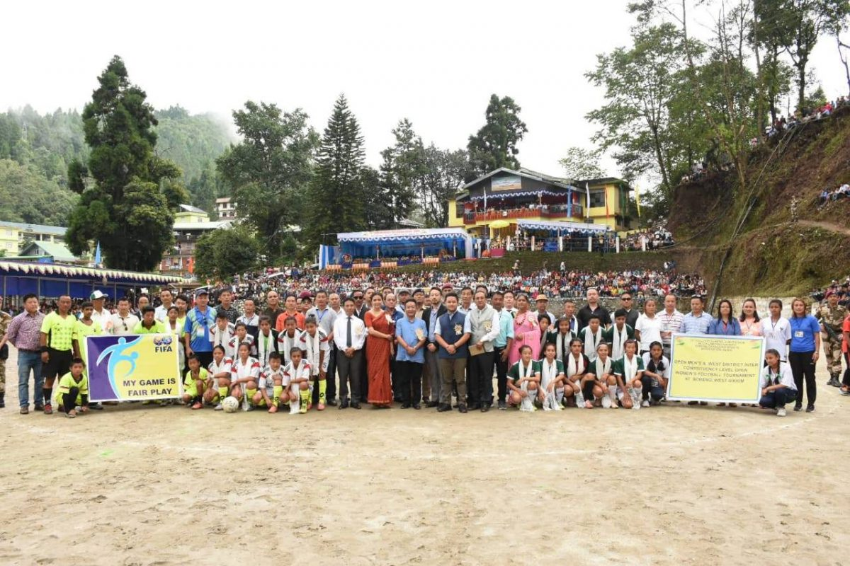 Independence day celebration committee, Soreng had the gracious presence of Hon'ble CM Shri P S Tamang (Golay) as the chief guest