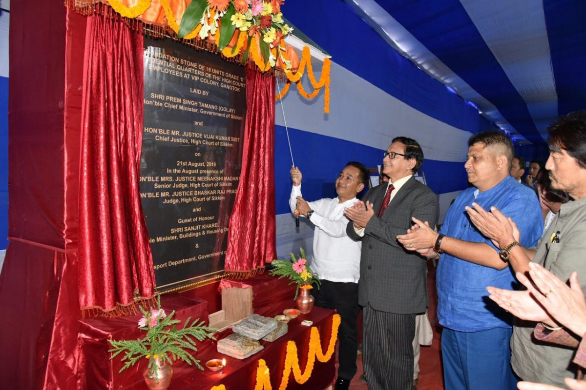 HCM & Chief Justice lays foundation stone of residential quarters of the High Court employees