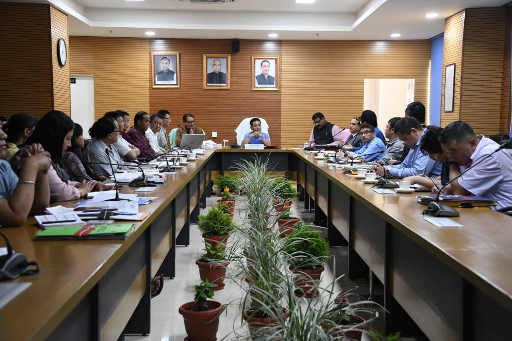 HCM chairs meeting with Department of Tourism and Civil Aviation at Tashiling Secretariat
