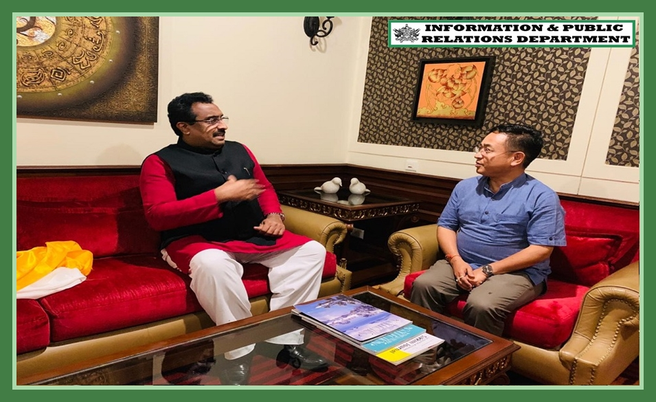 THE HON'BLE CHIEF MINISTER SHRI PS GOLAY MET AND WELCOMED THE BJP NATIONAL GENERAL SECRETARY SHRI RAM MADHAV ON 16.09.2019
