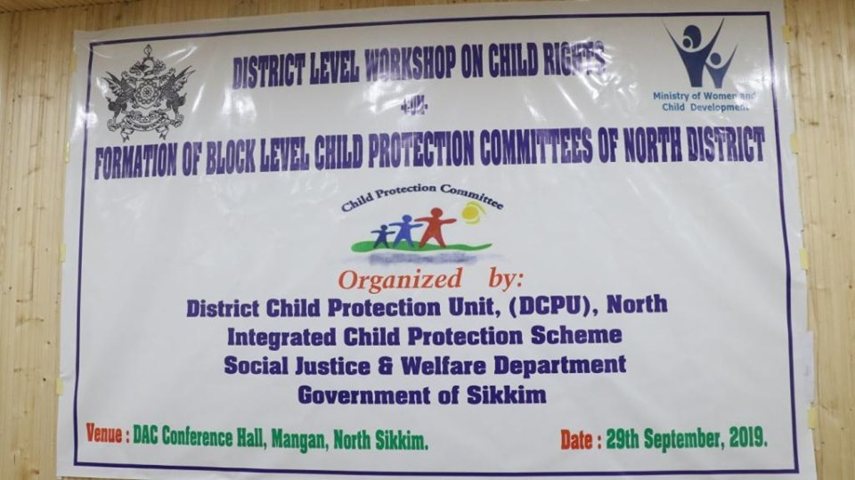 District Level Workshop on Child Rights-cum-Formation of Block Level Child Protection Committees of North District