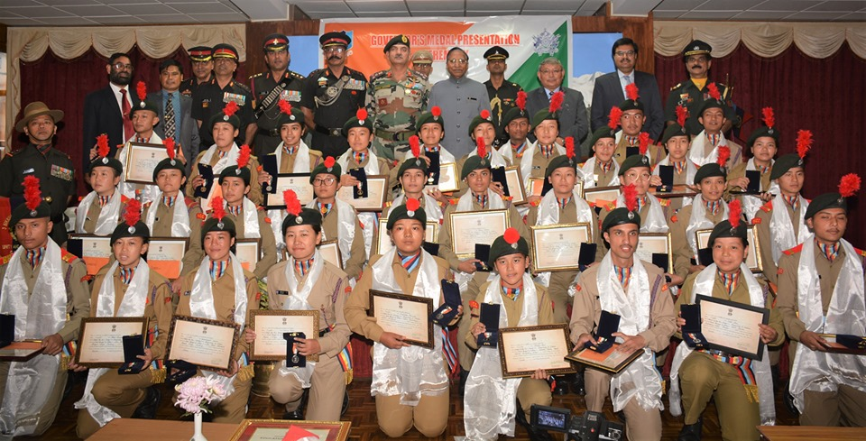 Hon'ble Governor confers Governor's Medal to 32 outstanding NCC cadets