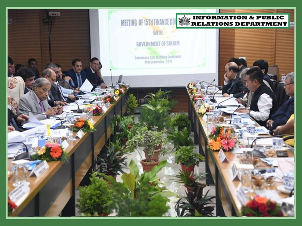 CHAIRMAN, FINANCE COMMISSION HOLDS MEET WITH HCM & STATE CABINET MINISTERS ON 24.09.2019