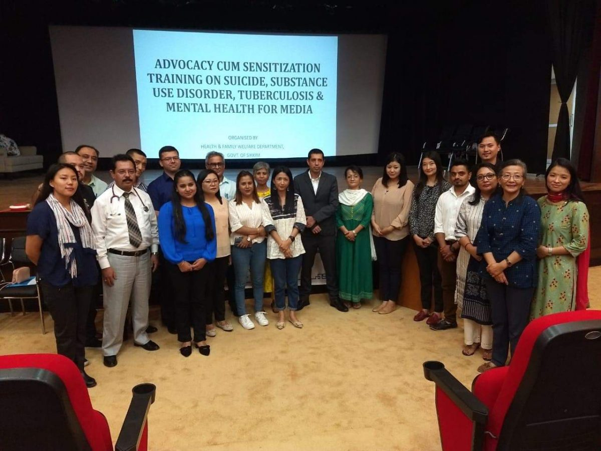 Health Department conducts training programme for media personnel on Suicides, Tuberculosis, Drug Abuse & Mental Health
