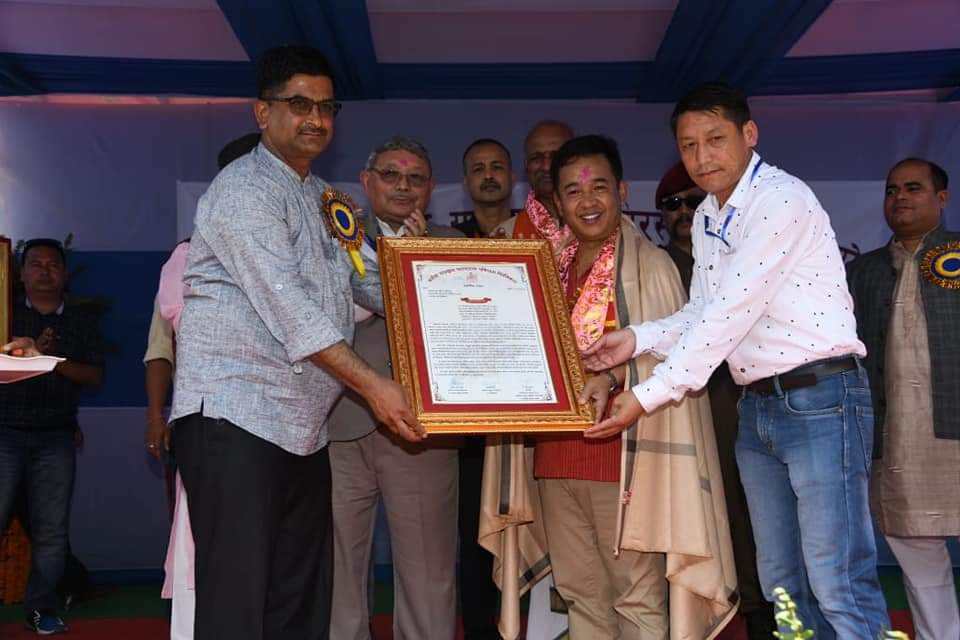 Hon'ble Chief Minister attends closing ceremony of Sanskrit Sameylan Shivir at Bermiok, West Sikkim