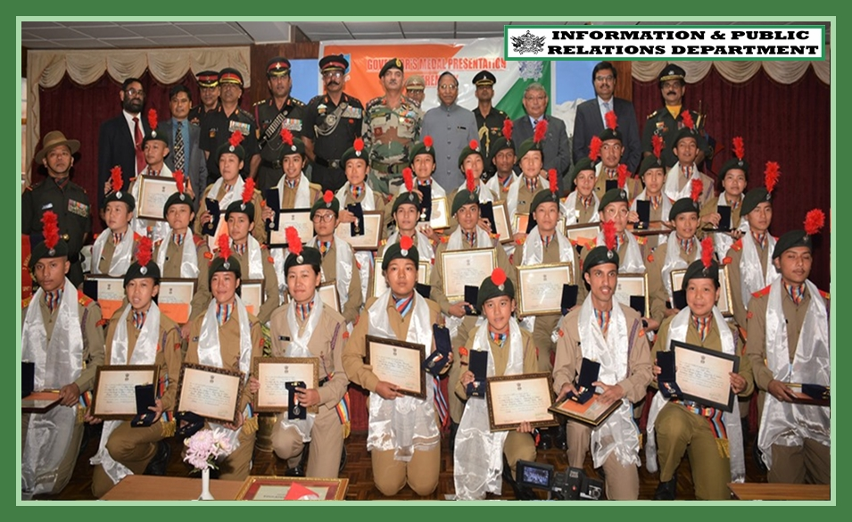 HON'BLE GOVERNOR CONFERS GOVERNOR'S MEDAL TO 32 OUTSTANDING NCC CADETS ON 28.09.2019