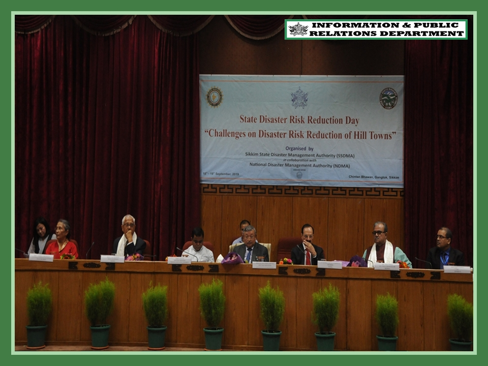 SIKKIM SSDMA OBSERVES STATE DISASTER RISK REDUCTION DAY ON 18.09.2019