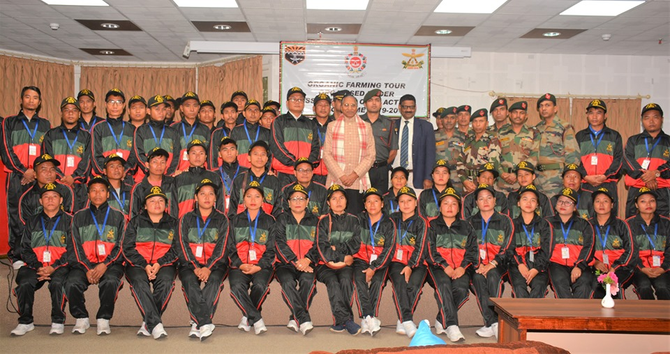 Hon'ble Governor granted audience to a group of 50 farmers of NE States & officers of Assam Rifles