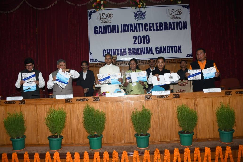 Gangtok celebrates 150th Birth Anniversary of Mahatma Gandhi at Chintan Bhawan