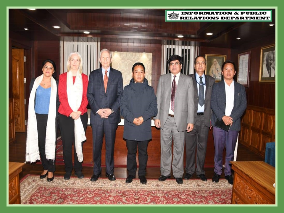 US AMBASSADOR, HIS EXCELLENCY MR. KENNETH JUSTER CALLED ON THE CHIEF MINISTER OF SIKKIM, SHRI PREM SINGH TAMANG ON 25.10.2019