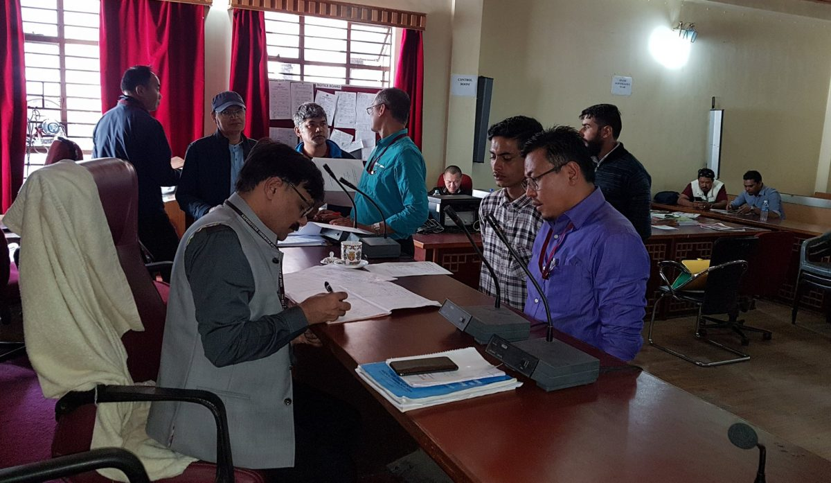 Final inspection of accounts conducted for contesting candidates of 24-Martam Rumtek and 27-Gangtok