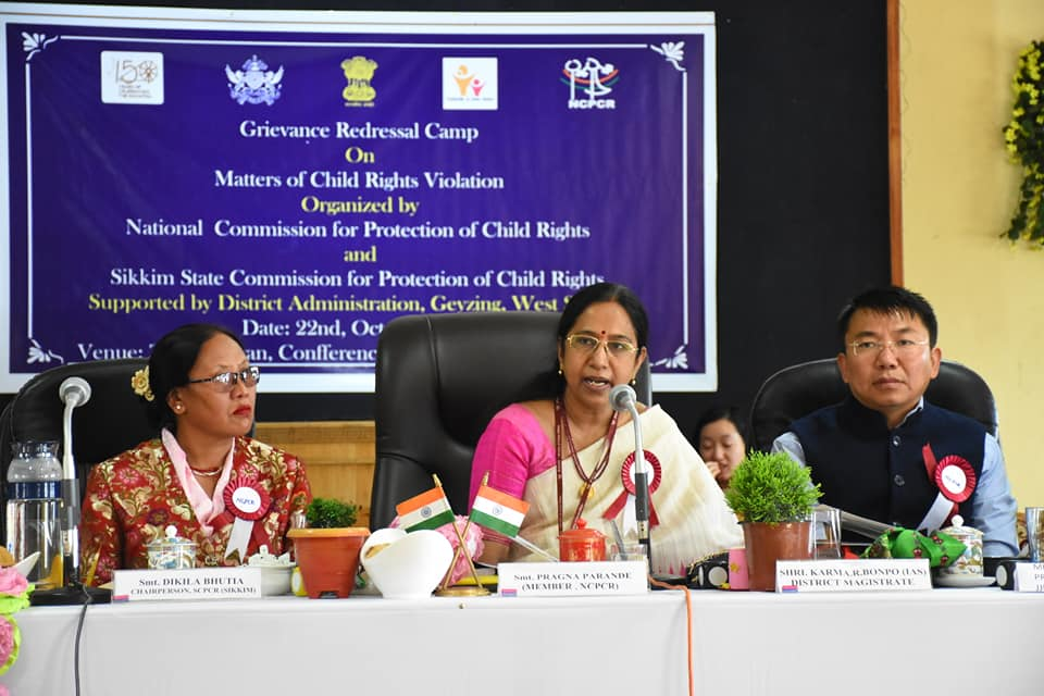 Grievance Redressal Camp (NCPCR) held at Gyalshing, West Sikkim
