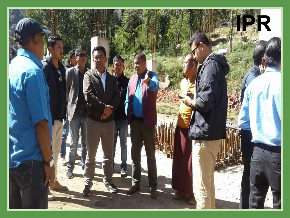 Hon'ble Minister Shri Sanjit Kharel alongwith Hon'ble Minister Shri M.N. Sherpa visited the under construction site of Stairway to Heaven at Daramdin on 10.11.2019
