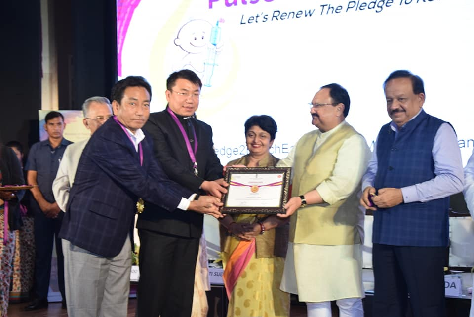 West Sikkim awarded at New Delhi for 90% Full Immunization Coverage