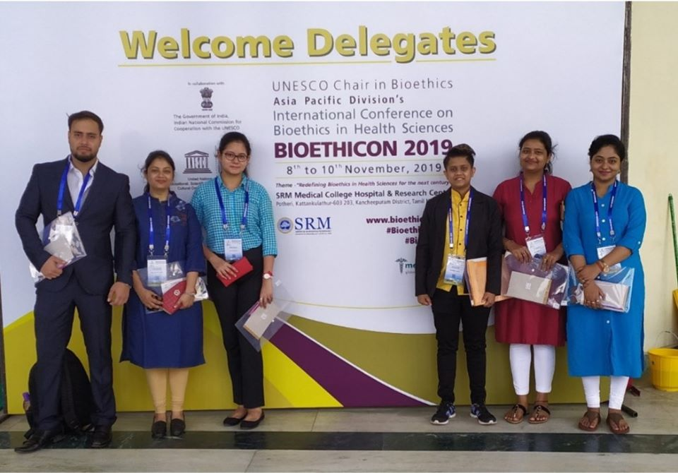 STUDENTS & FACULTIES OF THE DEPARTMENT OF MEDICAL BIOTECHNOLOGY, SMIMS ATTEND INTERNATIONAL CONFERENCE OF UNESCO BIOETHICS