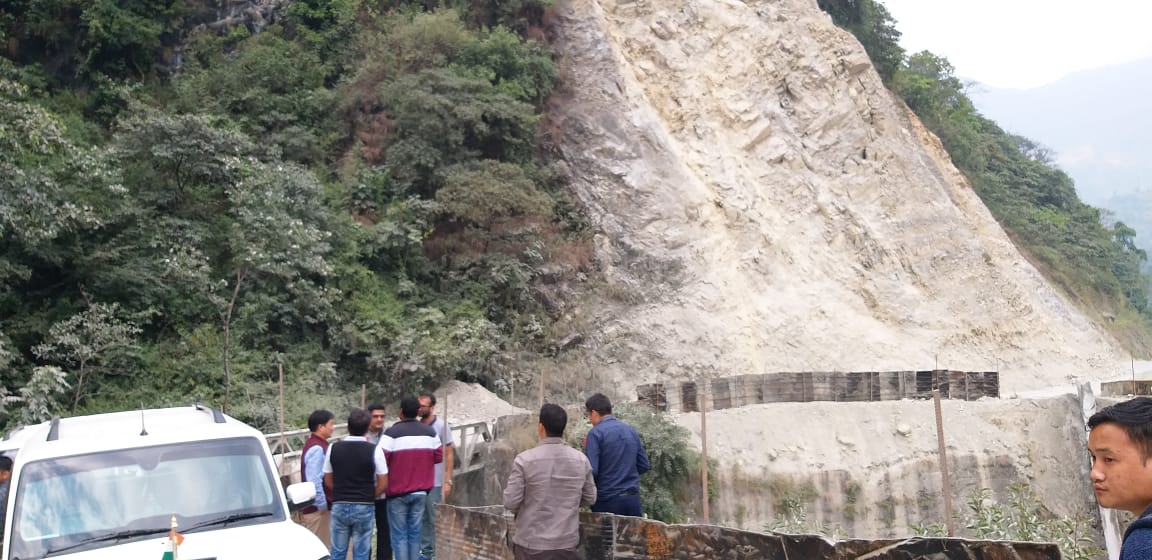 Road Inspection by Hon'ble Minister for Road and Bridges and Minister-cum- Area MLA of Gyalshing Bermiok constituency