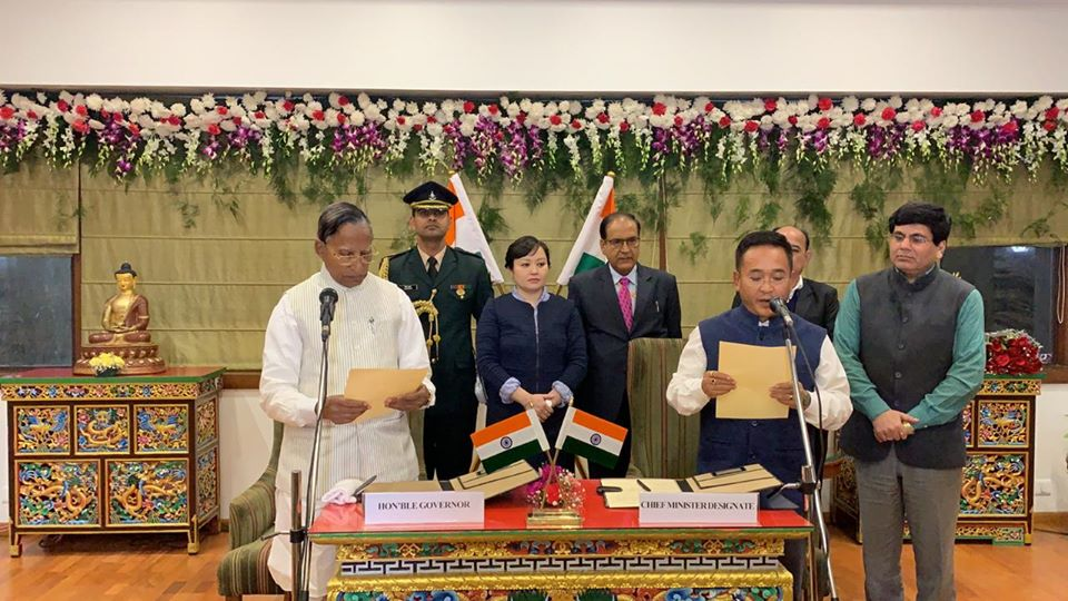 Hon'ble Governor Shri Ganga Prasad administered oath of office and secrecy to Shri P S Tamang as CM