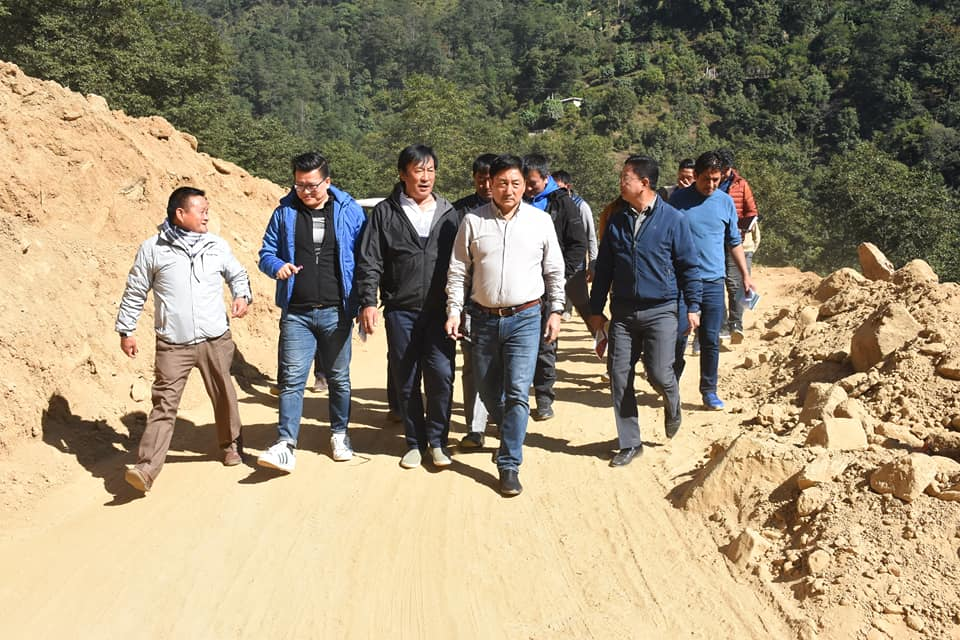 Shri Samdup Lepcha, Hon'ble PWD & Culture Minister visits West Sikkim