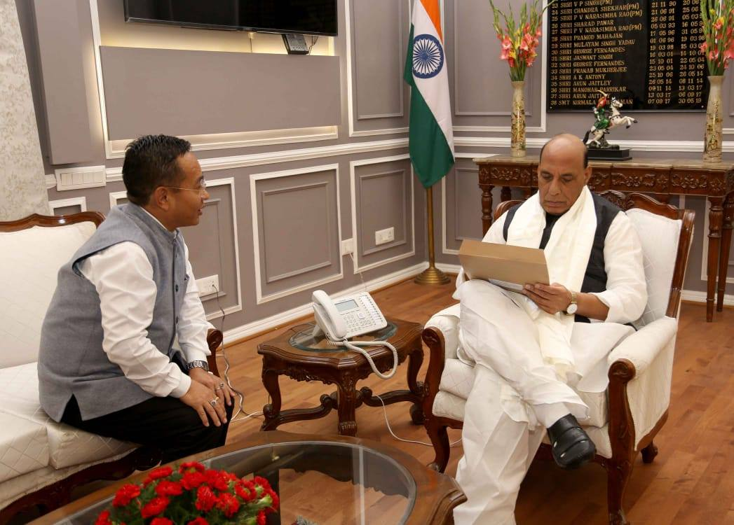 HCM called on the Union Defence Minister Shri Rajnath Singh
