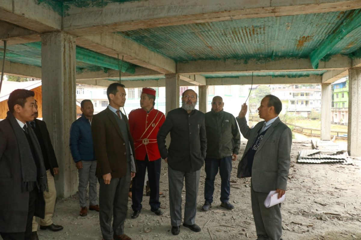 Chief Justice, High Court of Sikkim inspected the ongoing construction of the Court of Civil Judge-cum-Judicial Magistrate