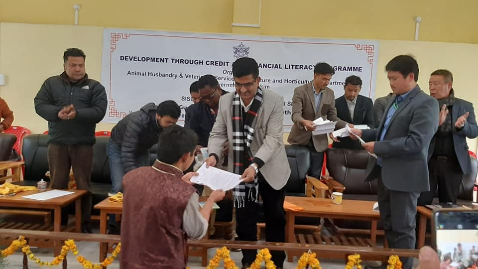 One day program of Development through Credit and Financial Literacy successfully completed at Bermiok, West Sikkim