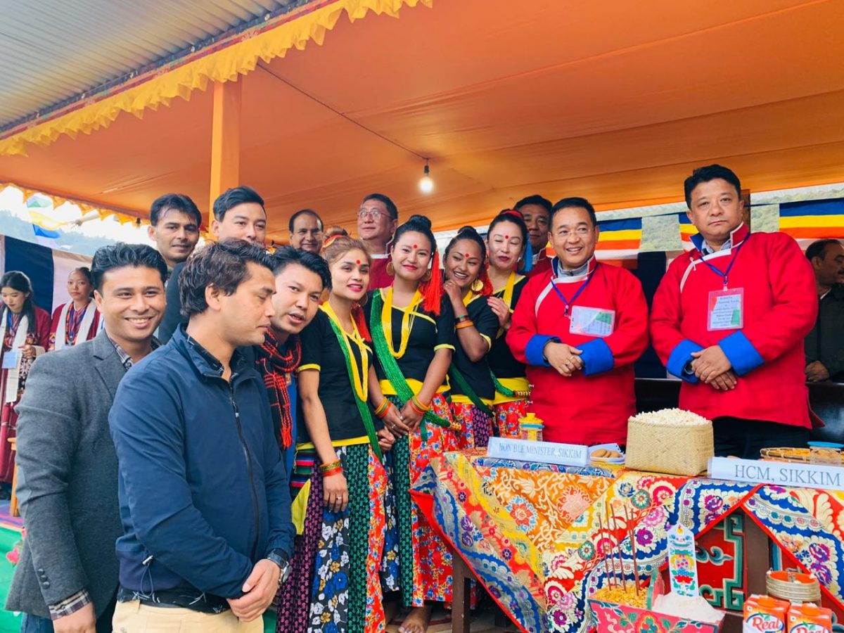 HCM visited Gyalchen Karma Thrinlay Monastery  located at Bishum Phodong