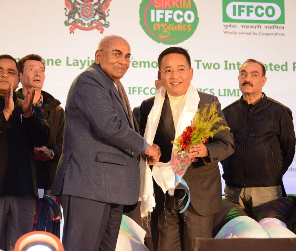 HCM laid foundation stone of two Integrated Processing Units of Sikkim IFFCO Organics Ltd at Rangpo