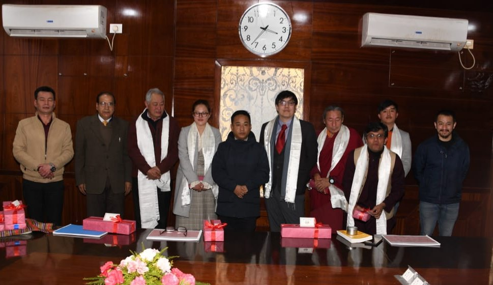 The Hon'ble Chief Minister met with the Trustees of Denzong Charities