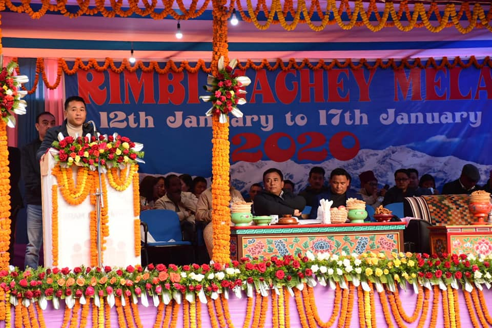 Chief Minister Shri. P. S. Tamang attends the Rimbi Maghey Mela, West Sikkim.