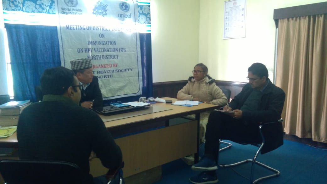 The meeting of District Task Force on Immunization on HPV vaccination and Pulse Polio
