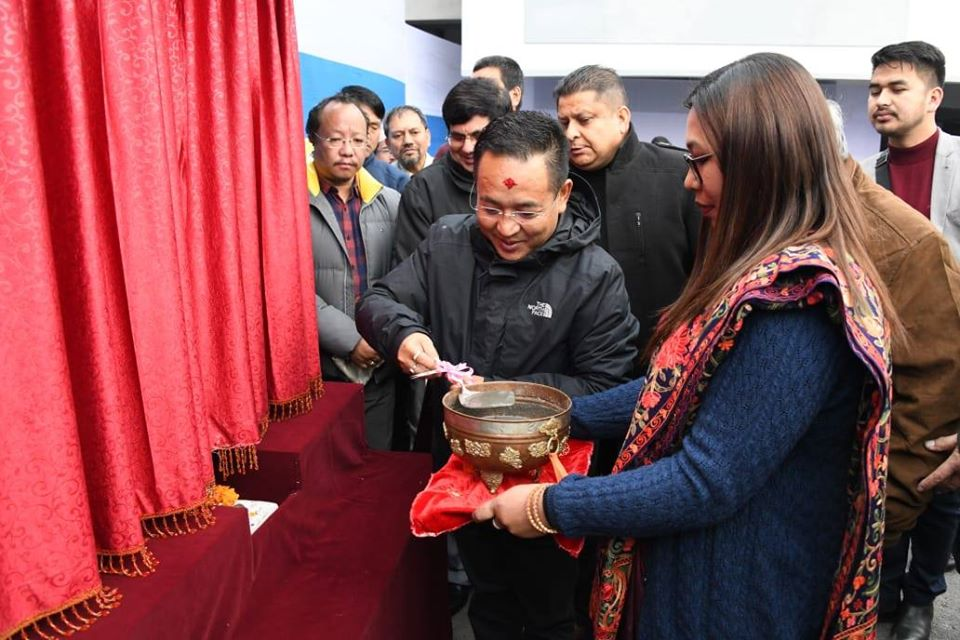 Hon'ble Chief Minister Shri P.S. Tamang (Golay) laid the foundation stone for the proposed State Civil Services Officers' Institute at Chintan Bhawan