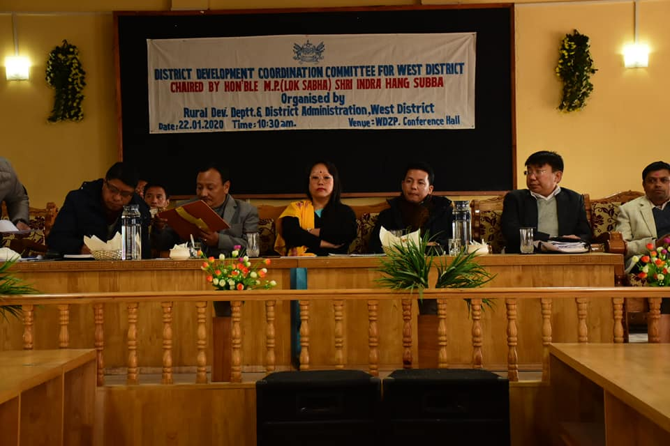 MP Lok Sabha, Shri. Indra Hang Subba attends the DISHA Meeting at Gyalshing