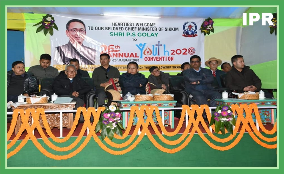 HCM ATTENDS THE 26TH ANNUAL YOUTH CONVENTION OF EPCS CHURCH AT WEST SIKKIM ON 24.01.2020