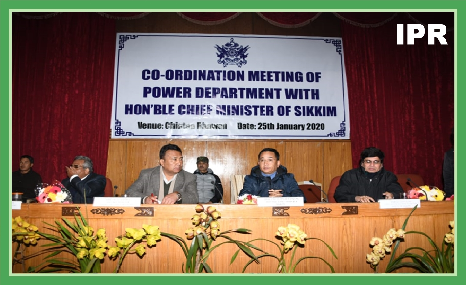 HCM CONVENED A COORDINATION MEETING WITH POWER DEPARTMENT OFFICIALS ON 25.01.2020
