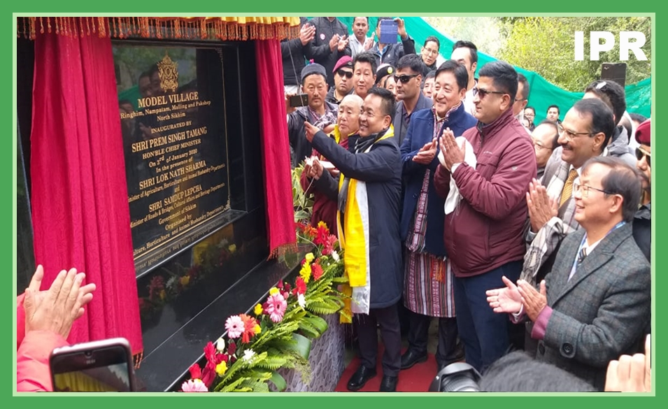 HON'BLE CHIEF MINISTER OF SIKKIM SHRI P. S. TAMANG INAUGURATED NEWLY ADOPTED MODEL VILLAGE IN NORTH DISTRICT ON 03.01.2020