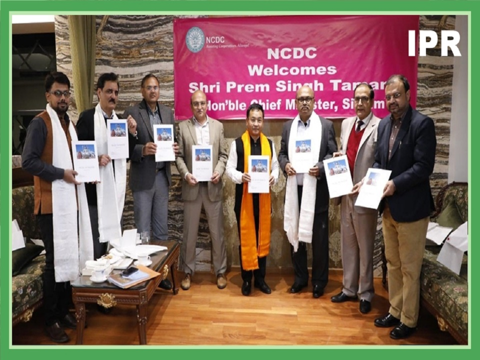 A MEETING OF HCM WITH MD, NCDC ON DEVELOPMENT PARTNERSHIP WITH COOPERATIVES OF SIKKIM THROUGH NCDC WAS HELD IN SIKKIM HOUSE, NEW DELHI ON 30.01.2020