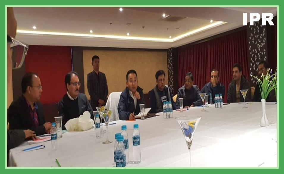 HON'BLE CHIEF MINISTER SHRI PREM SINGH TAMANG CHAIRED A MEETING WITH THE REPRESENTATIVES OF THE OLD SETTLERS, BUSINESS COMMUNITY OF SIKKIM AND THE PRESIDENT CHAMBER OF COMMERCE, SIKKIM ON 28.12.2019