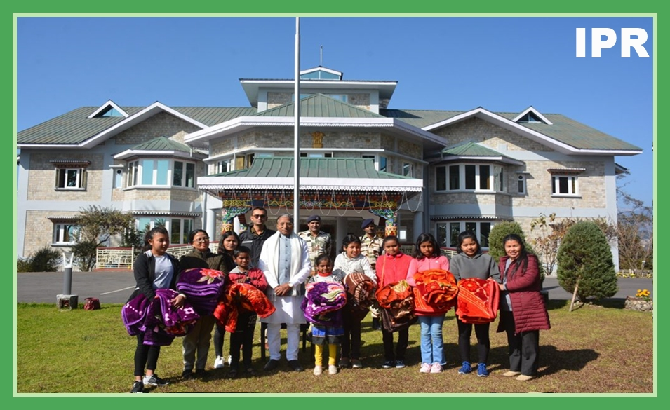 HON'BLE GOVERNOR OF SIKKIM, SHRI GANGA PRASAD MET THE CARETAKER AND CHILDREN OF SUBH LAXMI SOCIAL ORGANIZATION (ORPHANAGE HOME), CHANDAMARI TODAY AT RAJ BHAVAN ON 28.12.2019