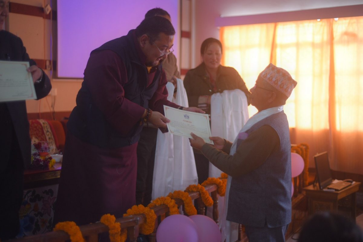 Valedictory function of  Monastic and Sanskrit Pathshala Teachers Training and Orientation Programme