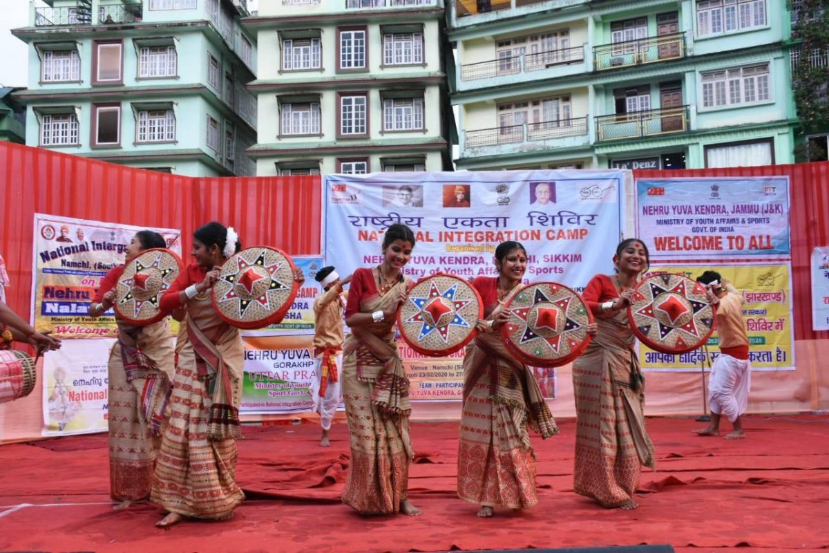 Cultural Extravaganza by participants of National Integration Camp