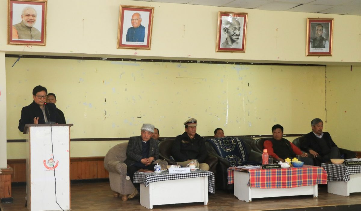 HM Shri Samdup Lepcha Chaired A Coordination Meeting At North District Zilla Panchayat Bhawan