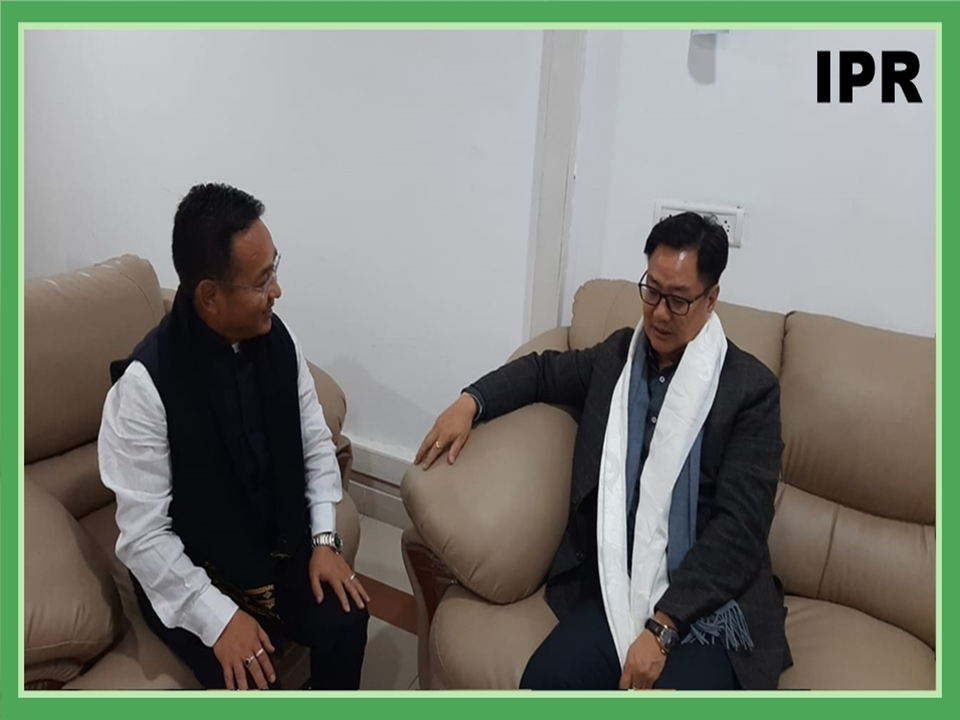 HCM MET THE UNION MINISTER OF STATE (INDEPENDENT CHARGE) YOUTH AFFAIRS AND SPORTS AND MINORITY AFFAIRS, SHRI KIREN RIJIJU ON 26.02.2020