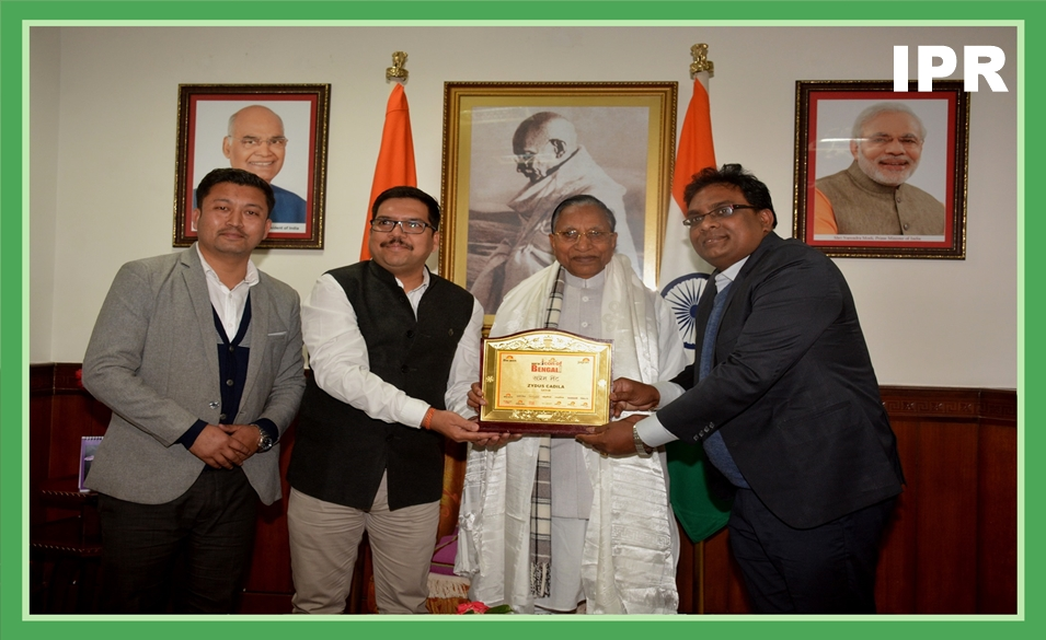 HON'BLE GOVERNOR, SHRI GANGA PRASAD FELICITATED SENIOR GM, DGM AND HR OF ZYDUS HEALTHCARE PHARMACEUTICAL LIMITED ON 17.02.2020