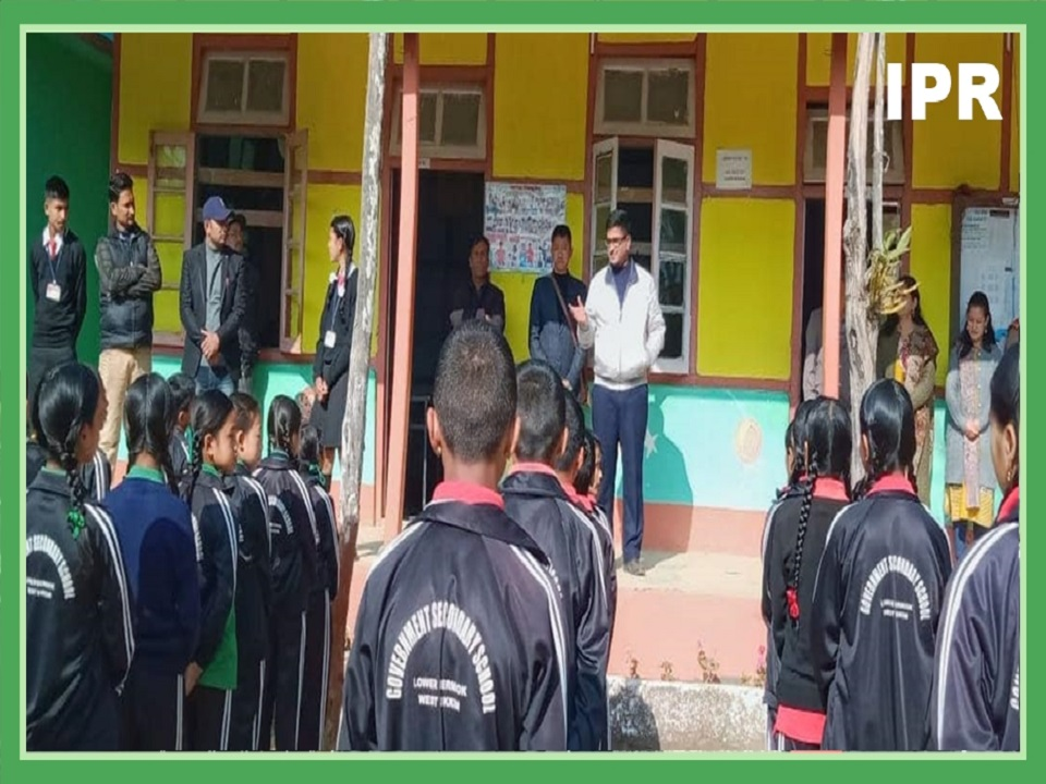 IPR MINISTER VISITS SCHOOL AND STOCKMAN CENTER AT BERTHANG, WEST SIKKIM ON 12.02.2020