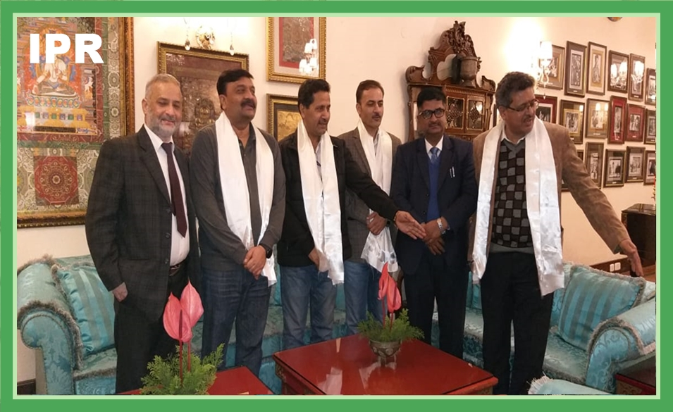 HON'BLE MINISTER SHRI L N SHARMA HAD A BRIEF MEETING WITH THE JOINT SECRETARY, MINISTRY OF AYUSH, GOVERNMENT OF INDIA ON 27.02.2020