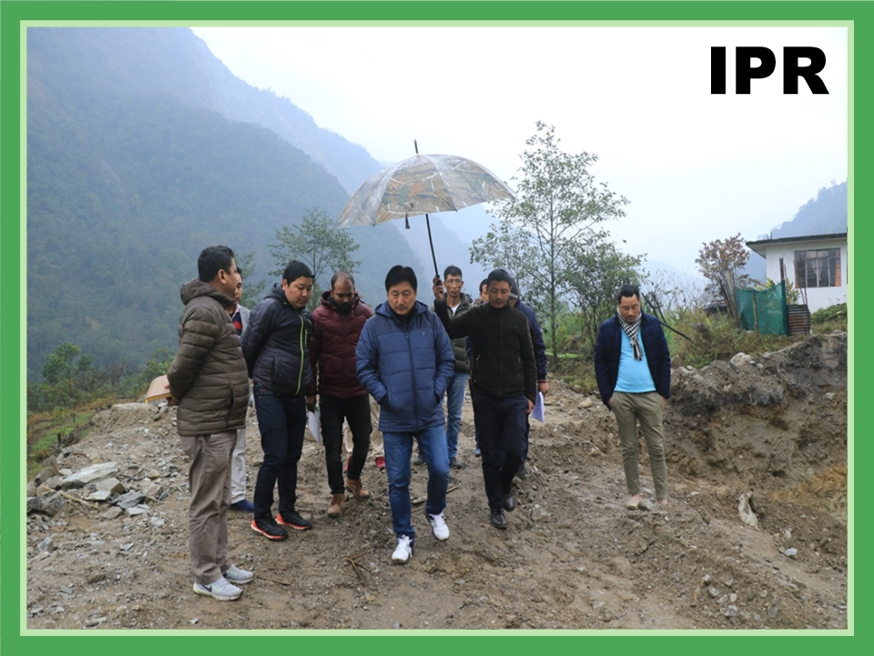 MINISTER SHRI SAMDUP LEPCHA INSPECTED THE ONGOING CONSTRUCTION ON 22.02.2020