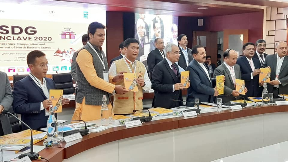 The Hon'ble Chief Minister Shri. Prem Singh Tamang participated in releasing the books