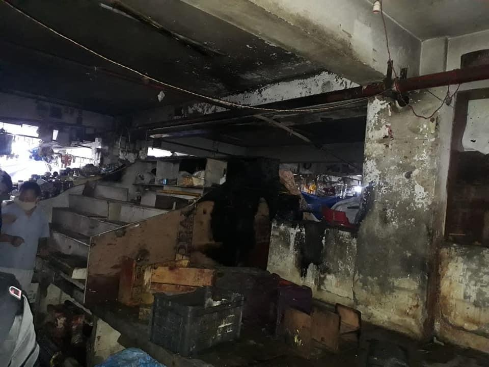 REPORT OF FIRE INCIDENT AT SHOPPING COMPLEX LAL MARKET